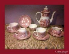 Royal Tudor Ware,angol porcelán teás készlet