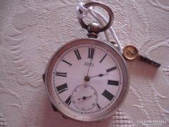 Kulcsos ezüst angol zsebóra ... 8a1d012ae6