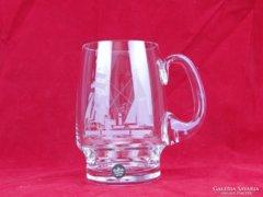 0D612 Jelzett Rosenthal üveg korsó söröskorsó