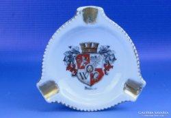 0D695 Régi német porcelán hamutál BRESLAU