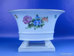 0D562 Oroszlánlábas Herendi porcelán kaspó