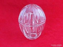 0D610 Régi tojás alakú üveg bonbonier