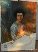 A művész családja - olaj/vászon festmény
