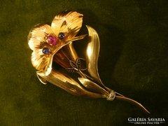 Hatalmas arany virág bross