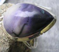 925 ezüst gyűrű, 18,6/58.4 mm, Tiffany kővel