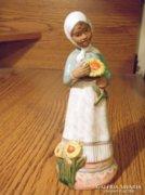 Bájos lány szobor, figura, jelzetlen, valószínűleg Mészáros