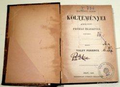 Bacsányi János költeményei ,1865,ritka