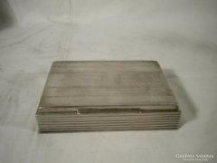S714 Régi ezüstözött alpakka kártyadoboz