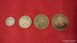 Ezüst (4 db.)Dautsches Reich mark. 1/2, 2, 3, és 5.