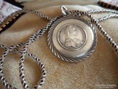 Mária Terézia ezüst medalion 2,4 cm