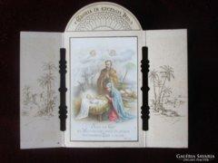 Szecessziós kinyítható oltár ima kép BETLEHEM 1918