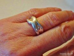 Szép régi kézműves ezüst gyűrű