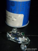 Bohemia kristály béka eredeti dobozában - gyűjteményi darab!
