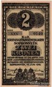 Sopronnyék 2 Korona - RÓMAI sorozatszám - ritka - EF