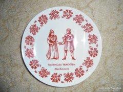 Türingiai német tányér - Lichte porcelán - Keletnémet GDR