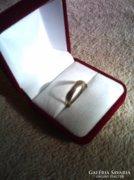 Szép kis női ezüst jegygyűrű