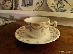 Girlandos porcelán teás csésze szett
