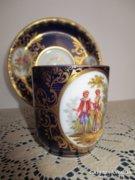 Drezdai porcelán kávés csésze