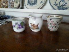 Régi, antik, porcelán kávés, mokkás csészék