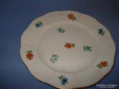 Apró virágos herendi porcelán süteményes tányér