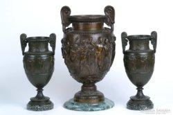 Francia bronz váza párban