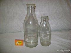 Régi tejes üveg - csak a kisebb