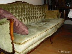 Chippendél barok 3 darabos ülögarnitura
