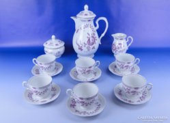 0E404 Régi jelzett VOLKSTEDT porcelán teás készlet