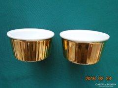 Royal Worcester arany mázas hőálló tálka 2 db-8,2x4 cm