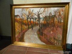 Pogány Géza eredeti képcsarnokos festménye : Ősz