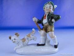 0E228 Régi Bertram jellegű porcelán figura