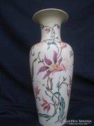 Zsolnay orchidea mintás bézs színű váza, nagy méretű, 35 cm K.. AKCIÓ.