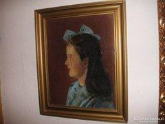 Csáki- Moronyák József Kossuth Díjas  (Orosh.1910 ) Lányportré