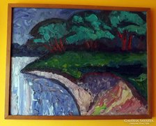Bartos Endre csodás festménye  65 x 85 cm