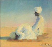 Bálint Rezső : Imádkozó arabusok 1927