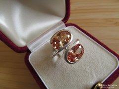Két köves ezüst gyűrű - szép!! - új ékszer
