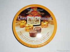 Bonbon csokoládé fémdoboz pléh doboz - Anthon Berg Queen of Denmark - 1980-as évekből