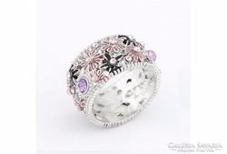 Különleges, virágos gyűrű 7-es ÚJ!