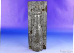 0F317 Antik pezsgős üveg alakú csokiöntő félforma