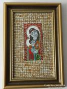 Radnai Zoltán tűzzománc . Ortodox Madonna