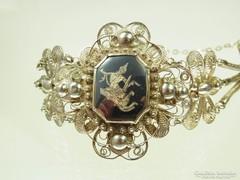 Ritka antik 925 ezust karperec