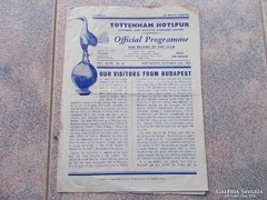 Fóci match program, 1955, Tottenham-Vasas