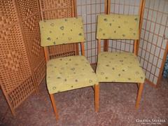 2 db sárga kárpitozott  szék eladó!