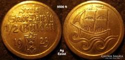 Danzig  1/2 gulden  1923   Ag ezüst