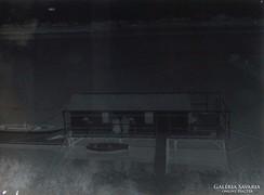 0F626 Antik üveglemez fotográfia üvegnegatív
