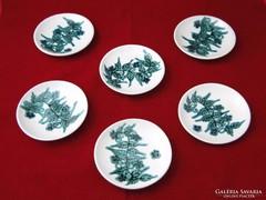 8976 Iparművészeti mázas kerámia tányér készlet