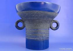 6709 Mozsár alakú iparművészeti retro kerámia váza