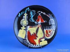 0D394 Jelzett retro falidísz tányér