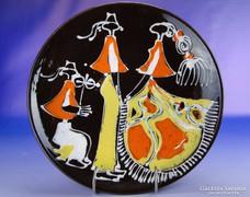 0E127 Jelzett retro falidísz tányér