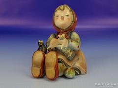 0D042 Antik Hummel kötő kislány TMK 1